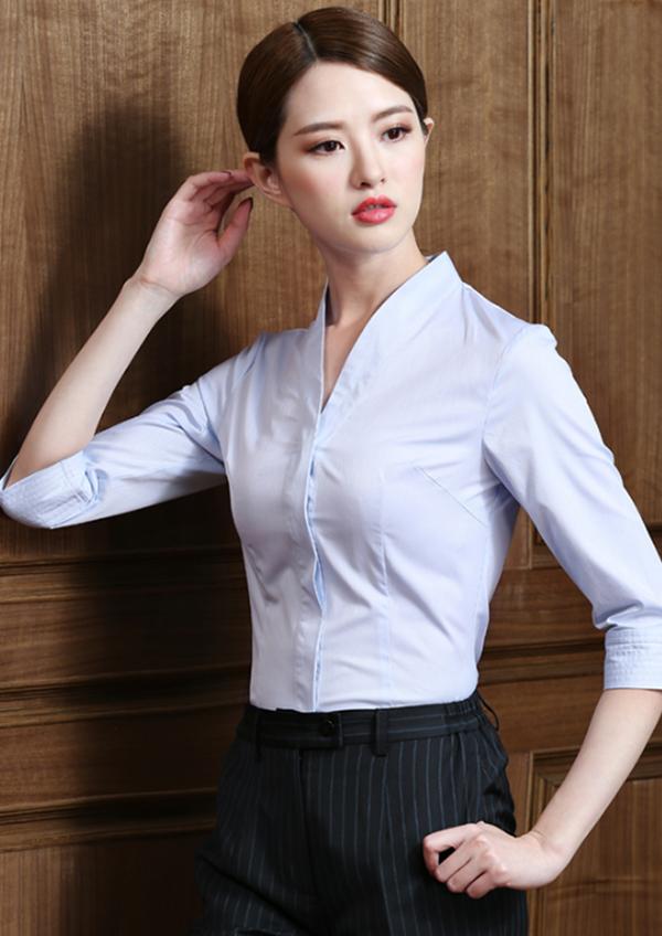 五分袖女士时尚衬衣